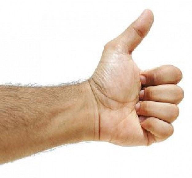 zadowolenie, kciuk podniesiony do góry