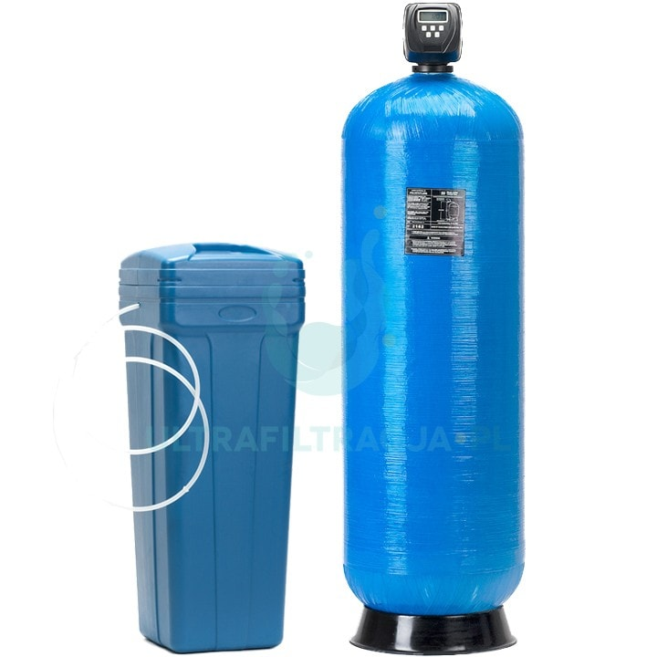 duży, wydajny dwuelementowy zmiękczacz wody