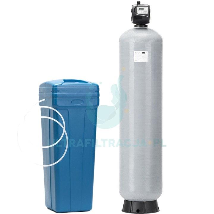 dwuelementowy zmiękczacz wody ze zbiornikiem na solankę