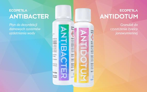 Ecoperla Antidotum oraz Ecoperla Antibacter - preparaty do pielęgnacji filtrów wody